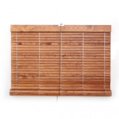 Persiana alicantina de madera barnizada a medida