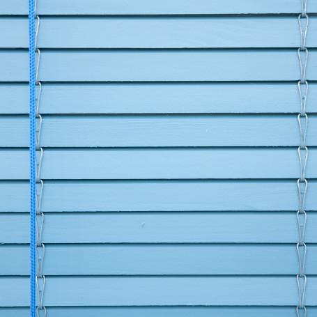 rollo persiana azul pintado