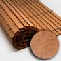 Trozo rollo persiana cadenilla madera acabado cerezo