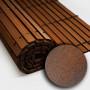 Trozo rollo persiana cadenilla madera acabado nogal