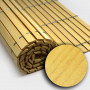 Trozo rollo persiana cadenilla madera acabado pino