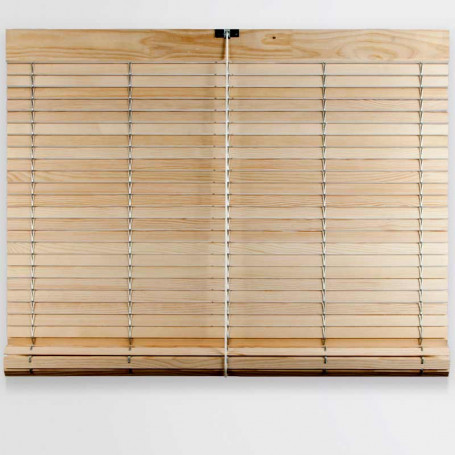 persiana barata de madera cadenilla alicantina pino DO natural sin pintar